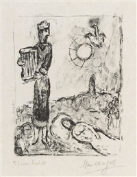 könig david by marc chagall