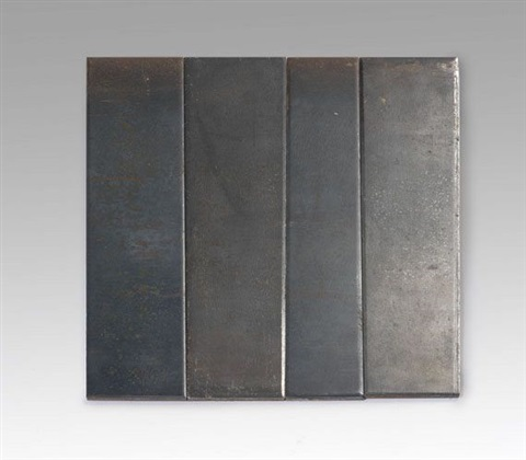 irregular rectangle composed of 4 unequal parts by carl andre