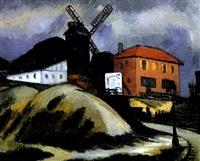 montmartre - moulin de la galette by alfred dunet