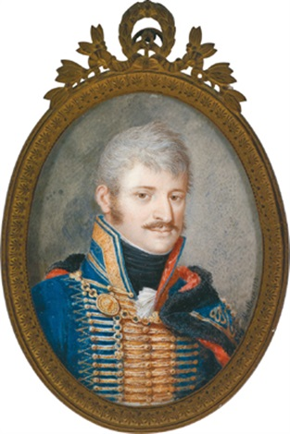 bildnis eines ungarischen husaren in uniform by joseph kaltner