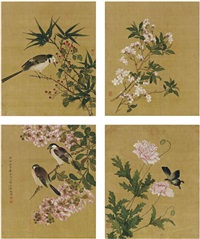 birds, insects and plants (album w/12 works) by ma quan