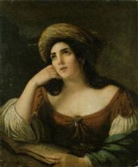 porträt einer orientalin by natale schiavoni