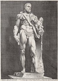 the emperor commodus as hercules by hendrik goltzius