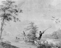 vissers met een treknet by johan friedrich anton koster