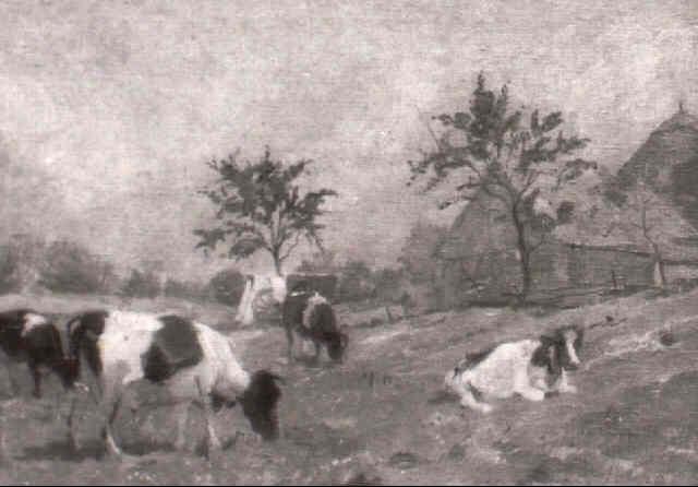 kuhe auf der weide by karl hentschel