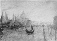 regatta-segelboote vor dem canal grande in venedig by fritz moritz