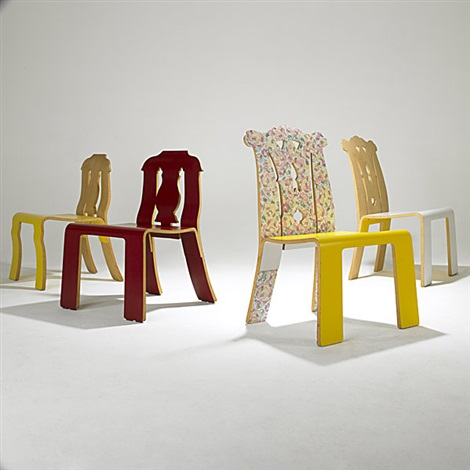chippendale chair 3 others smllr 4 pieces by robert venturi