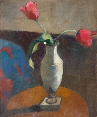 natures mortes aux fleurs dbl sided by paul sérusier
