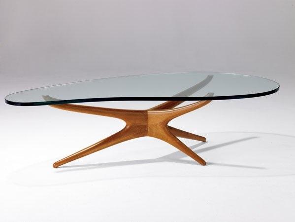 Tri Symmetric Coffee Table By Vladimir Kagan