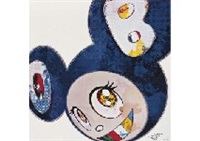 and thenx6 (blue: the superflat method)(+ 2 others; 3 works) by takashi murakami