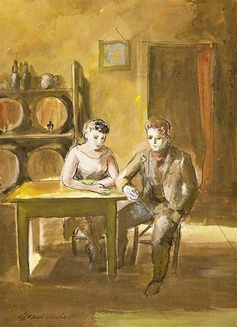 interior de taberna by manuel humbert