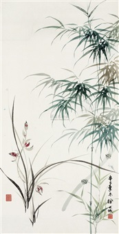 兰竹双清 (orchid and bamboo) by xu shucheng