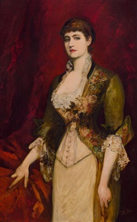 porträt isabella gräfin potocka by hans makart