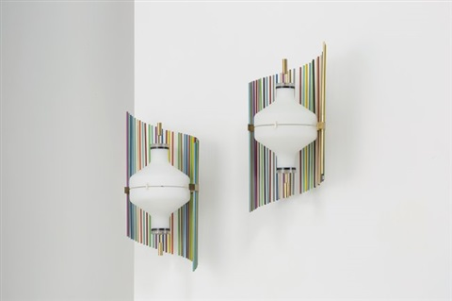 Coppia di lampade da muro mod n° by angelo lelii on artnet