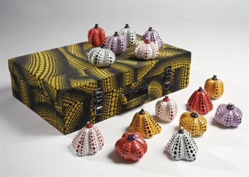 pumpkins set of 15 by yayoi kusama