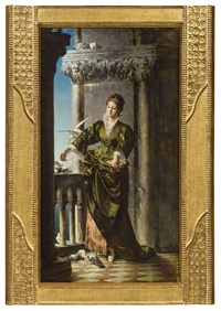 venezianische dame by carl probst