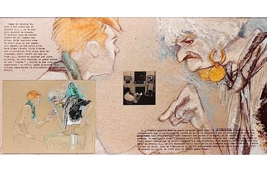 le délassement du peintre français, avec diseuse de bonne aventure by jean le gac