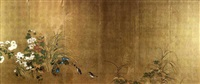 flowers and grasses of autumn and summer (pair of 6-sheet fold screens) by japanese school-rimpa (18)
