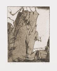 anschluß. - fels und wurm (2 works) by horst janssen