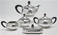 a tea set (set of 5) by gerritsen & van kempen (co.)