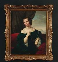 porträt der marie lacroix, verhelichte dofou by jakob (johann) hermann