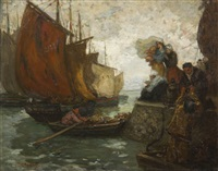 farewell from the quay by augustus koopman