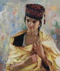 塔吉克族少女 by liu bingjiang