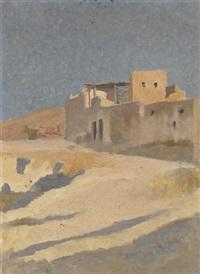 algerisches dorf am wüstenrand by john pierre simonet