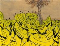 bananenlandschaft mit baum by thomas baumgärtel