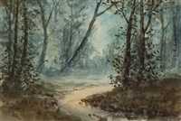 forest at dusk (+ forest at dawn, pair) by pauline meyer colyar