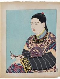 two works: la geisha kiyoka and le mandarin aux lunettes by paul jacoulet