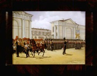 military review at anichkov palace by adolphe ignatievich ladurner
