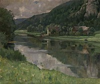 sommarlandskap by august böcher