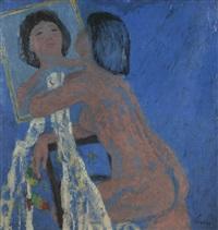 weiblicher akt vor spiegel by kurt lauber