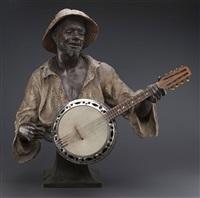 le joueur de mandoline by friedrich goldscheider
