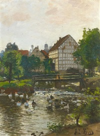 am dorfweiher by adolf lins