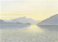 abendlicher thunersee mit der stockhornkette by anonymous-swiss (20)