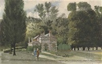 keeper's cottage, kensington gardens (+ longwater, kensington gardens, 1941; 2 works) by eustace corrie frere