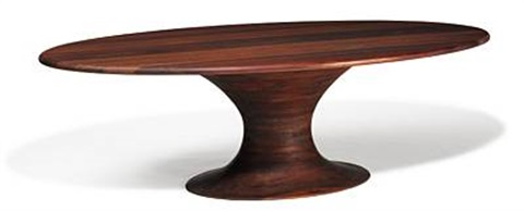 Nice Oval Dining Table With Organically Shaped Base By Marc Van Rampelberg