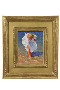 artist's daughter at the shore by thomas r. dunlay