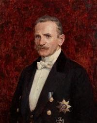 porträt eines herren mit ritterkreuz by ernst wilhelm müller-schönefeld