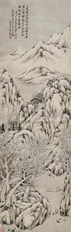 寒江垂钓 by jiang baoling