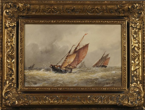 a rough sea by frederick james aldridge