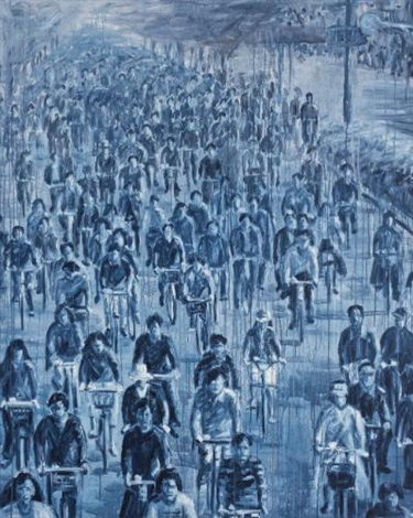 blue bikes by sheng qi