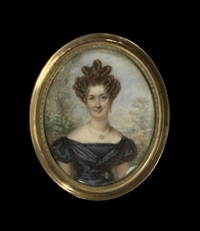 portrait miniature of a lady by joseph fourcade