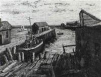 new england wharf by samuel brecher
