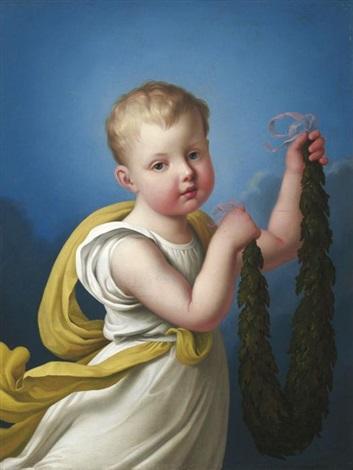 porträt der luise prinzessin zu anhalt dessau als kind by heinrich beck