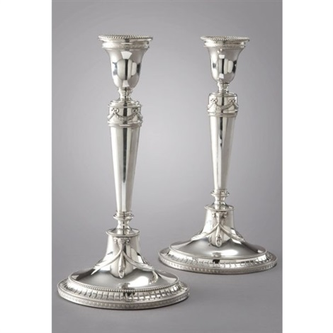 candlesticks pair by a bonebakker zoon co