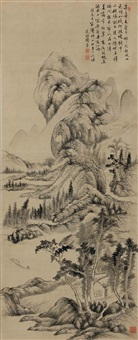 emulation of yuan dynasty landscapes by zhou quan