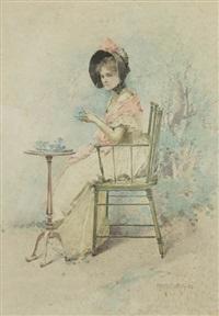 lady at tea by edward percy moran